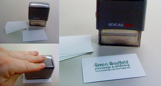 Rubber Stamp Business Cards- Create your own Hand Crafted Business Card