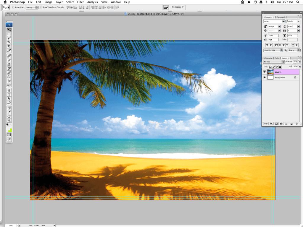 beach scene postcard 1