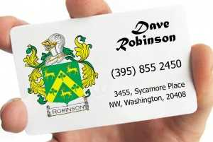 A great idea for family business cards would be to put your family crest on them!