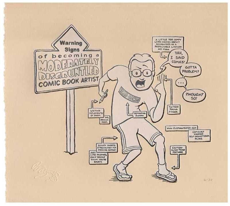 The (slightly) disgruntled comic creator - One of Ryans Fine Art Prints (available for sale at elephanteater.com)