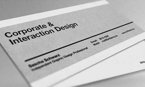 Irregular sized business card - original and simple