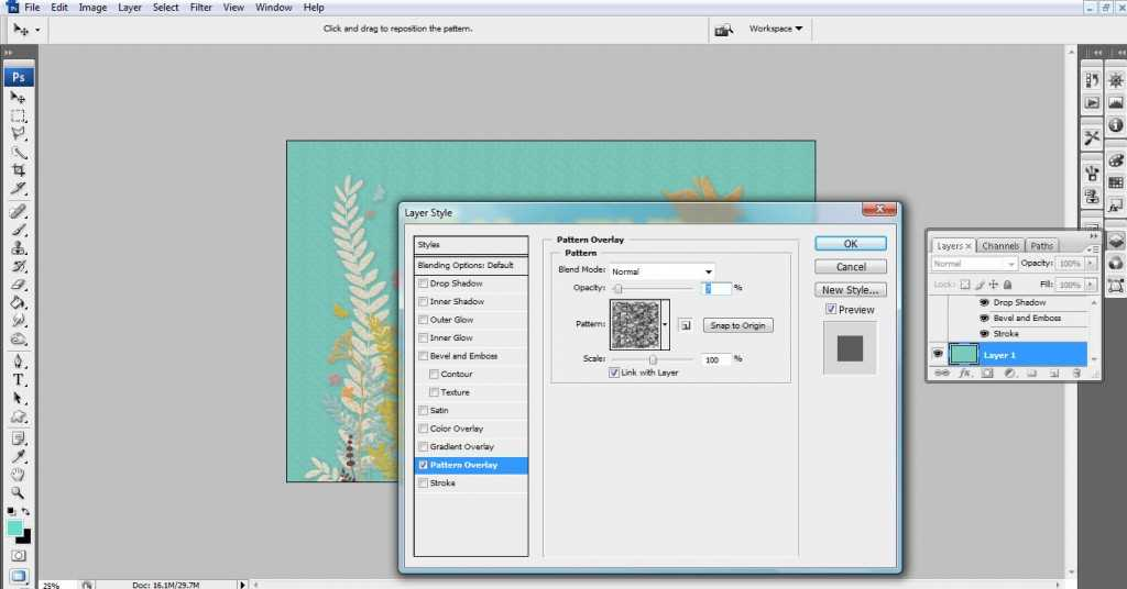 Add a pattern overlay to your background