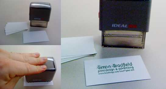 Stamped business card - simple and cheap business card solution