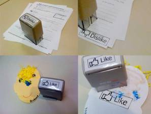 Facebook Like and Dislike Stamps!
