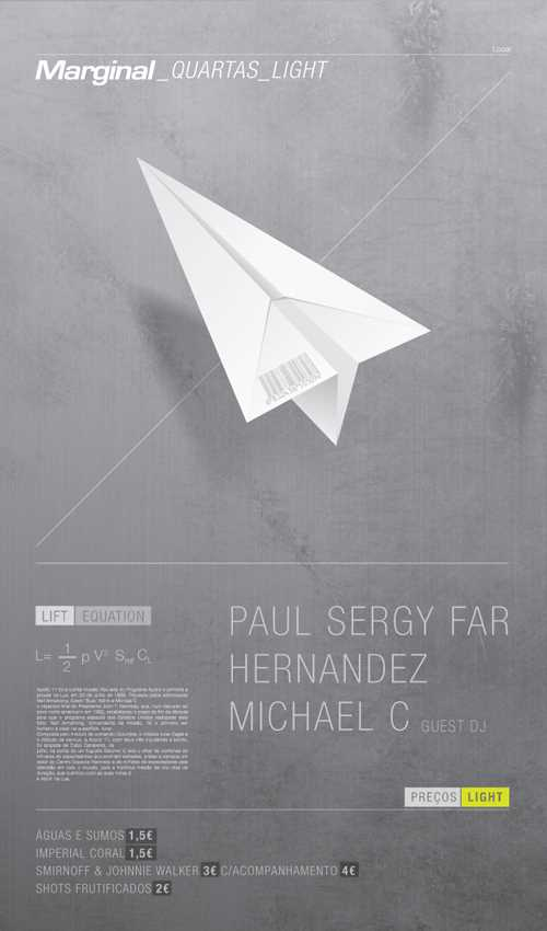 WOW! This excuisite design by Nuno Serrãoa even has a schematic on the back on how to build a paper plane.