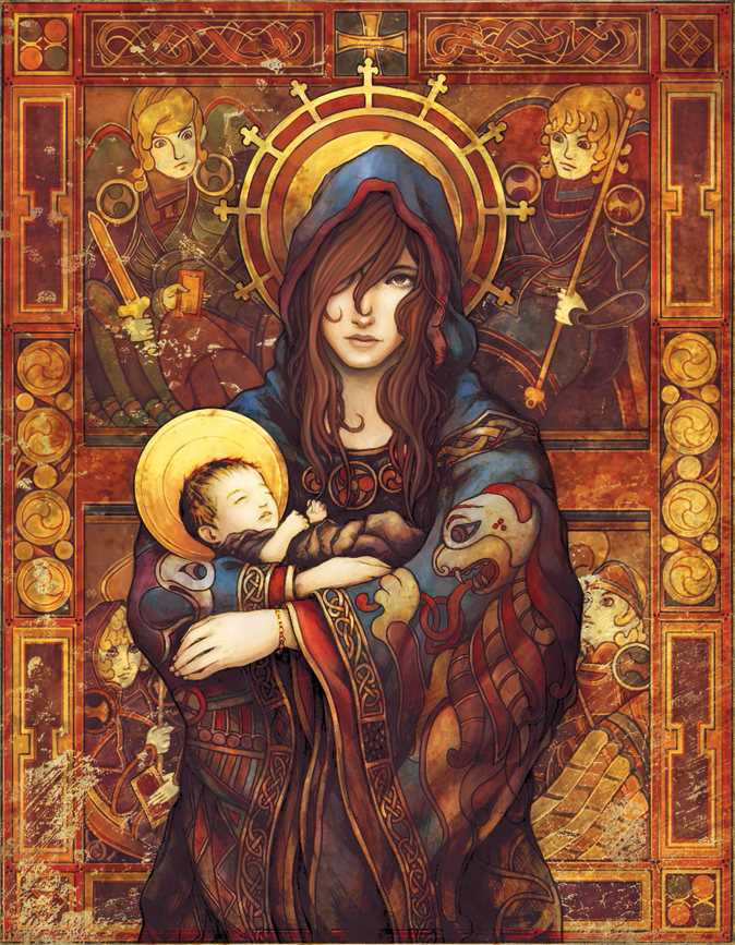 Excuisite Illustration of the Madonna and Child by Parker Fitzgerald and Brittany Richardson