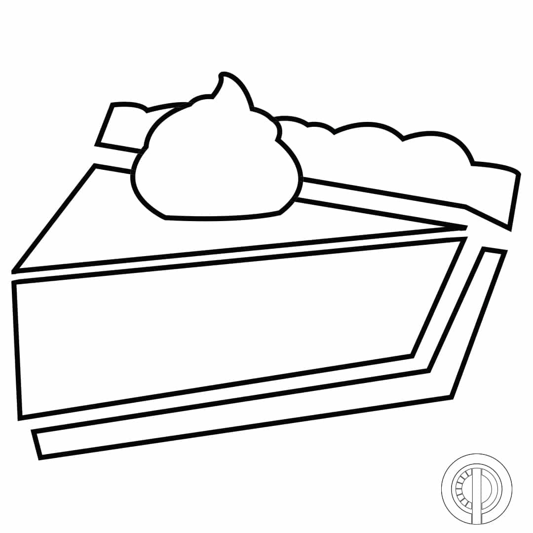 Pumpkin Pie Stencil