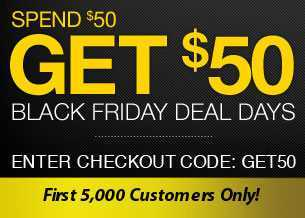 Black Friday Promotion - Spend $50 get $50