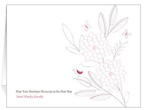 This seasonal card is beautifully subtle and elegant