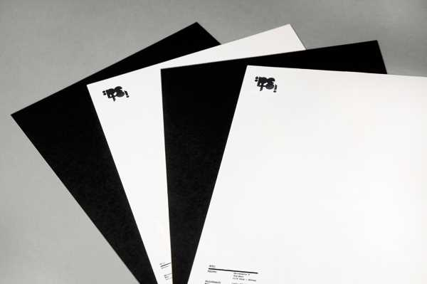 Martin Strousland's has made beautiful use of black and white contrasting stationary elements