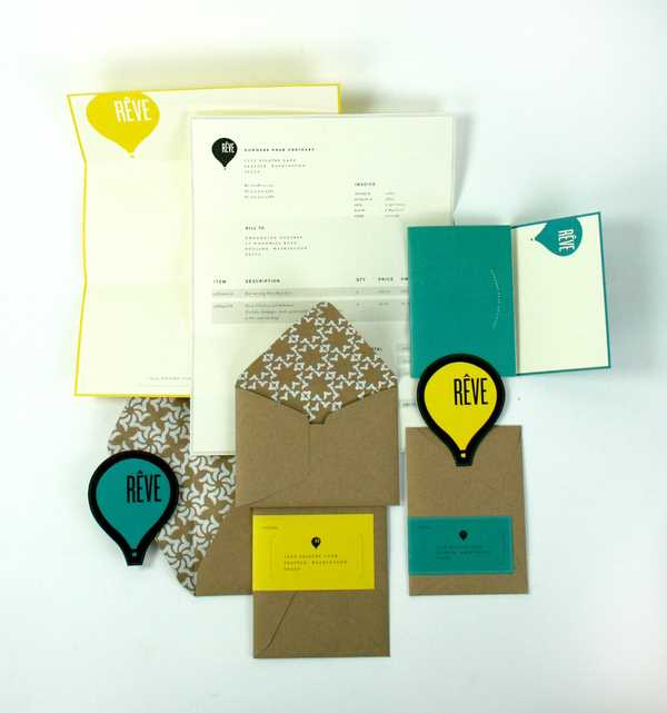 Fun and bold stationery design from Laura Berglund