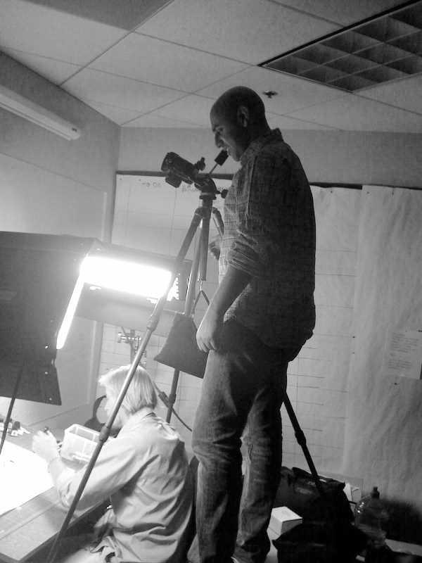 Hamesh Shahani shoots Jamie sketching