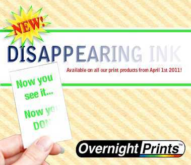 New Product - Disappearing ink!