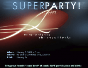 Super Invitations for the Super Big Game!