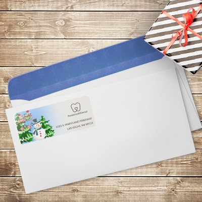 Holiday corporate address labels