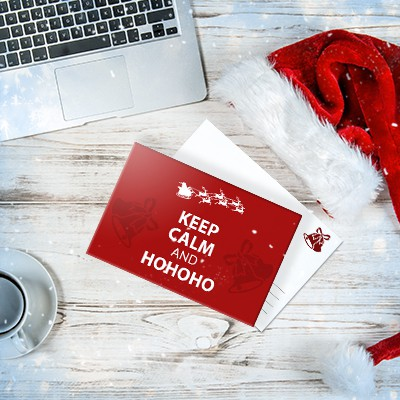 holiday promo postcard