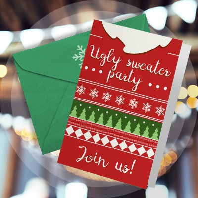 Greeting card holiday invitation