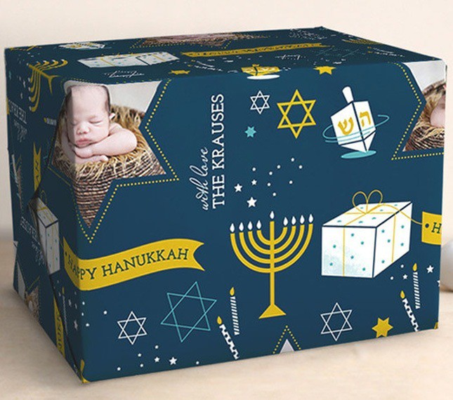 Hanukkah custom wrapping paper