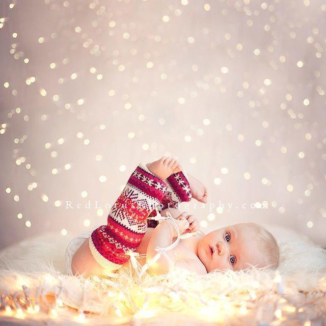 Baby in legwarmers