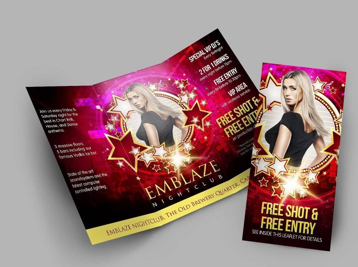 Tri-fold promotional flyer