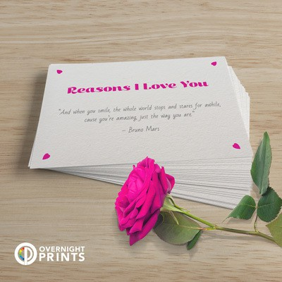 Valentine's love note postcards
