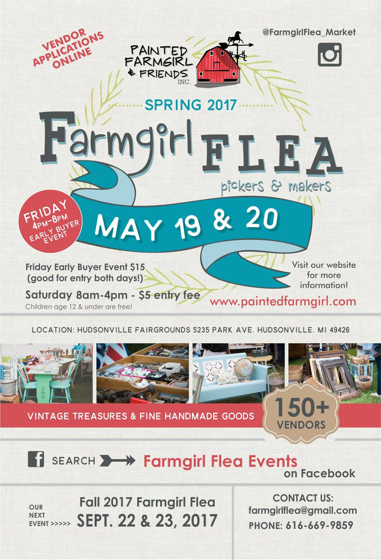 custom designed flea market flyer