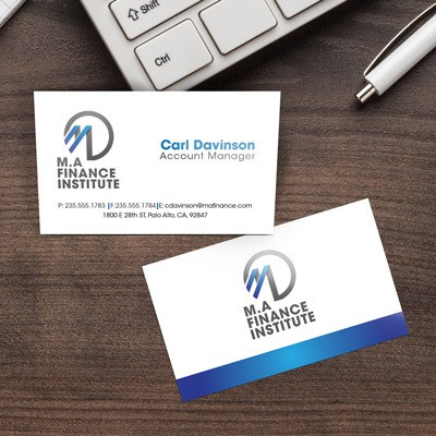 Tax theme business cards