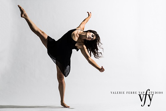 A Valerie Febre-Rap Studio image of a modern dancer in motion