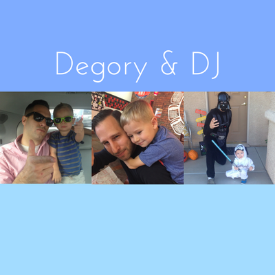 Photo collage of Degory & DJ