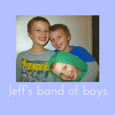 Photo of Jeff's three boys