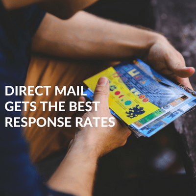 Direct mail gets the best response rates