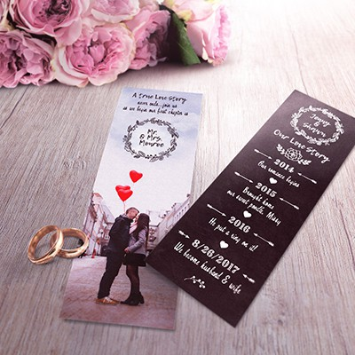 Mini love story bookmark