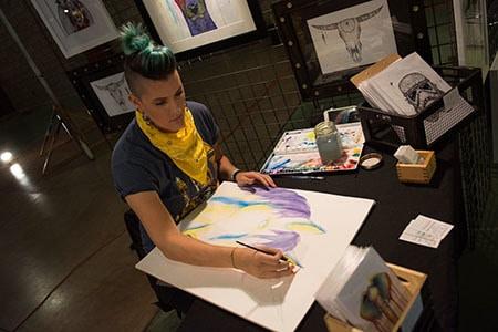 Haylee McFarland painting