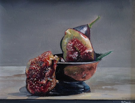 Fig oil painting