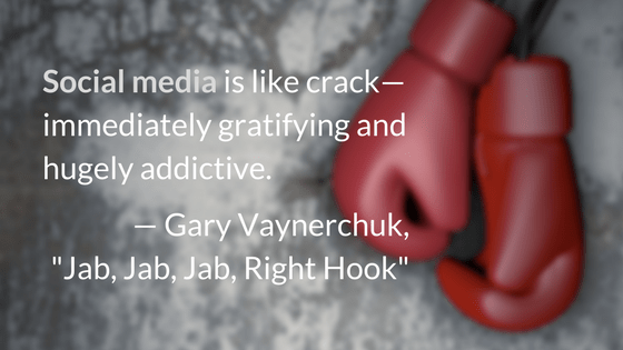 Social media is like crack—immediately gratifying and hugely addictive.