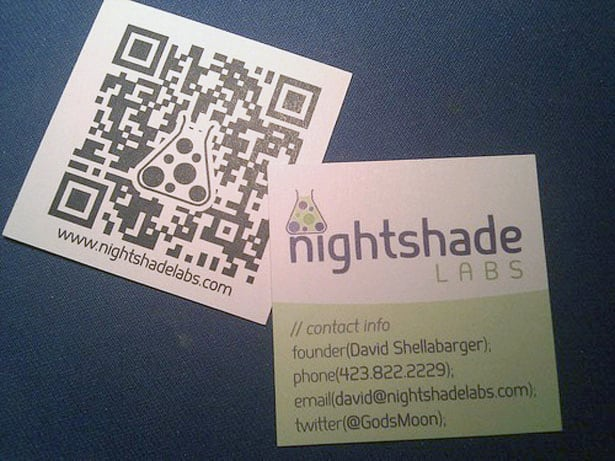 QR code on business card
