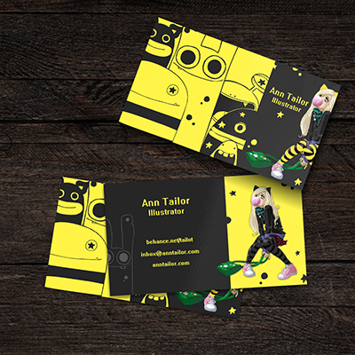 Comic illustrator business card