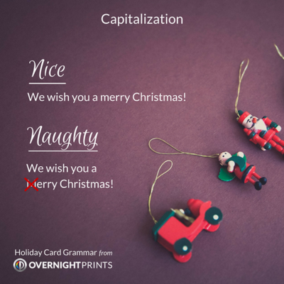 Holiday Card Grammar - Capitalization