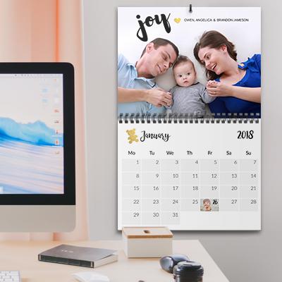 Photo wall calendar