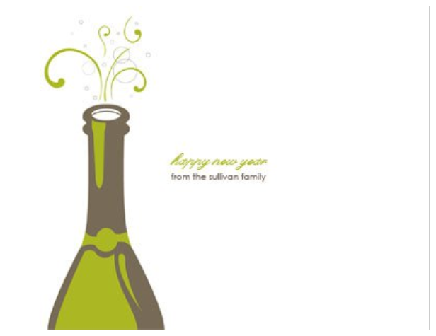 pop the cork new years party 4x55 postcard invitation template