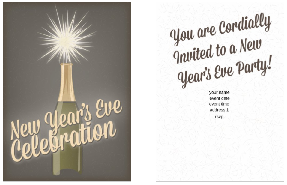 10 Free New Year\'s Eve Party Invitation Templates | OvernightPrints Blog