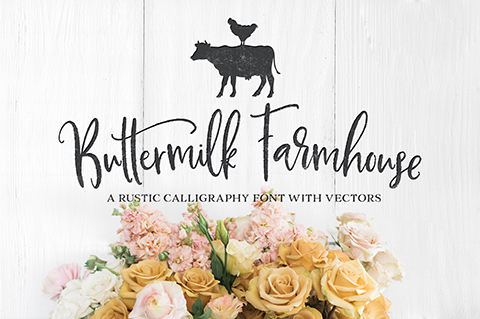 Buttermilk Farmhouse font by Callie Hegstrom