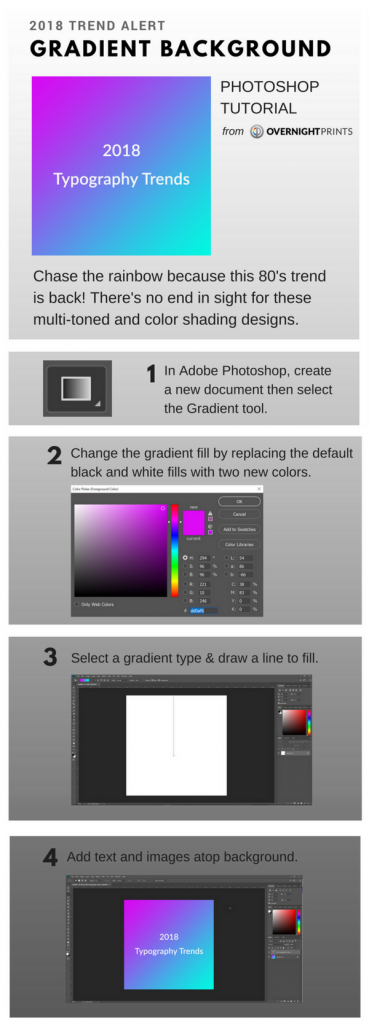 Gradient Background Photoshop Tutorial