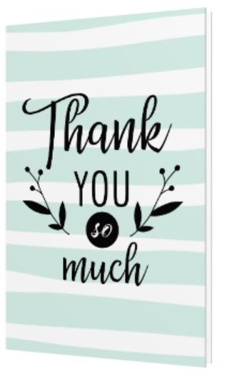 Seafoam Thank You So Much greeting card