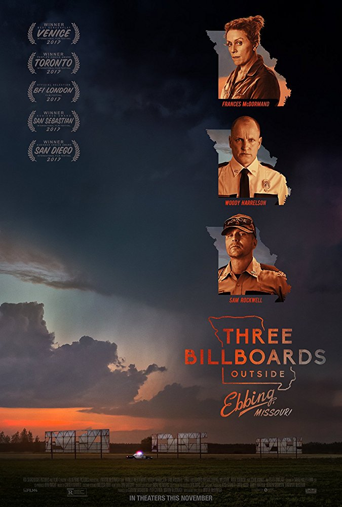 Three Billboards Outside Ebbing, Missouri 2017 movie poster