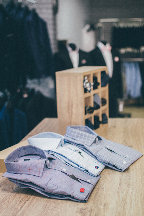 Group of three dress shirts