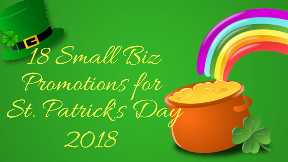 Pot O Gold promos 2018 small business