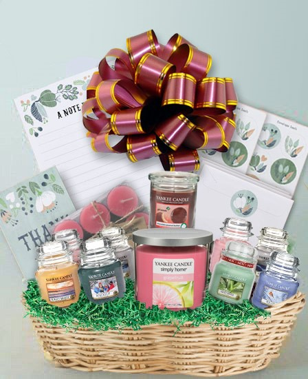 candles and stationery creative easter basket idea overnightprints