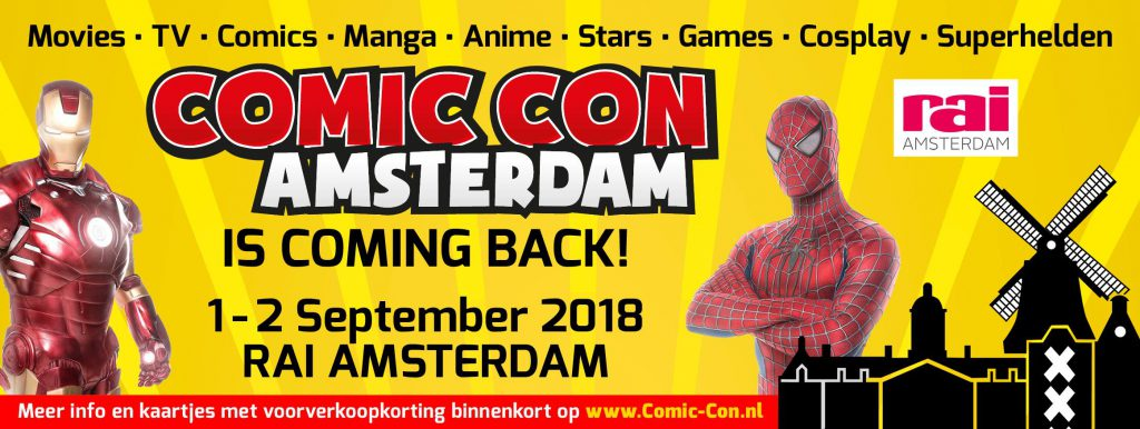 comic-con amsterdam - conference - september 2018
